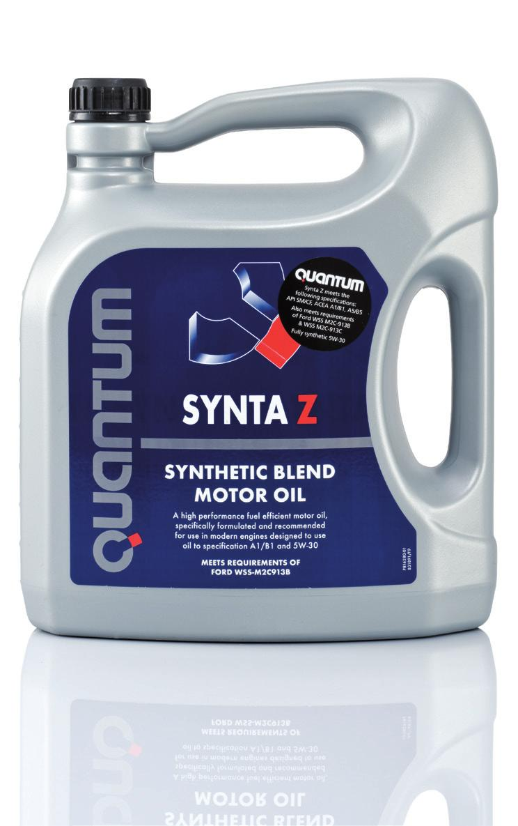 Synta Z 5W-30 Especially formulated to meet Ford engine requirements, Synta Z is a fully synthetic oil with the following key features: A very high specification oil approved to meet Ford s latest