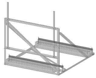 "The Kit is furnished with 2"" x 2"" angles that extend over the blocks for the length of the ballast trays and are held to the Frame with 1 /2"" diameter x 9"" long hookbolts, with 7"" long thread."