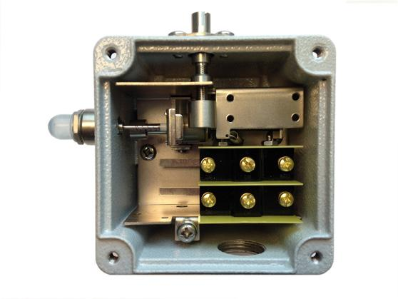 The NC contact of Sw 1 may be used to complete a safety/start circuit of a VFD or motor starter. When the switch trips this contact will open and break the circuit.