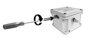 Turning the adjustment screw counter clockwise decreases the trip point making the switch more sensitive to shock.
