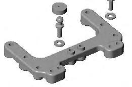 Raise or lower the ball end by adding or subtracting washers here STEERING BLOCKS The included trailing steering blocks (# 9581) should be used in most cases.