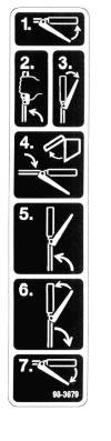 Safety Safety and Instruction Decals Safety decal and instructions are easily visible to the operator and are located near any area of