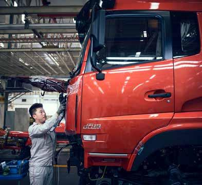 CHINA DFCV already produces very high quality trucks. At the same time we are aiming to make them even better.