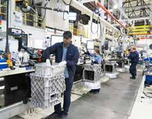 Curitiba, Brazil One of the most visible results of the Curitiba Plant s lean manufacturing focus is the final engine assembly line, which was completely rebuilt in 2011.