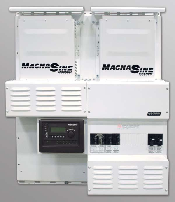 The MPSL Magnum Panel, Single Enclosure, Low Capacity is designed to accommodate a maximum of two inverters.