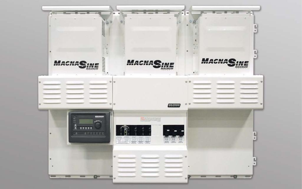Interconnection System Equipment MPSH Magnum Panel The MPSH shown with three inverters (sold separately), two optional MPX extensions to accommodate the additional inverters, two optional backplates,
