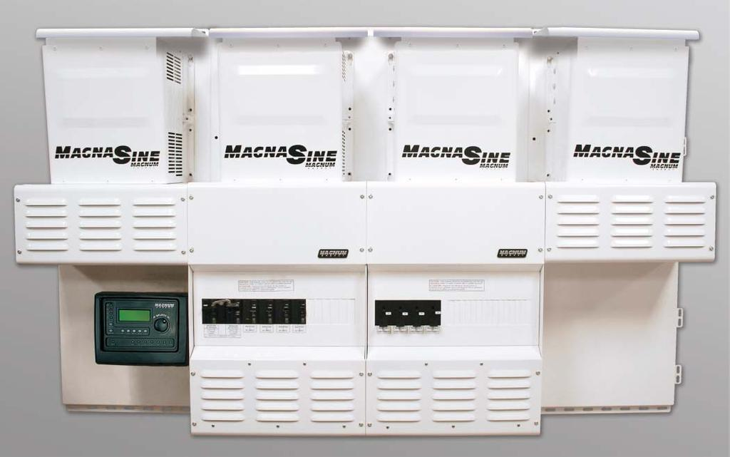 Interconnection System Equipment MPDH Magnum Panel The MPDH shown with four inverters (sold separately), two optional MPX extensions to accommodate the additional inverters, two optional backplates,