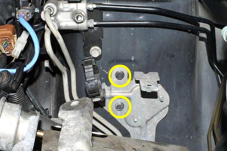18. * 2006-07 WRX / 2007 STI Only - Remove main wiring harness bracket using