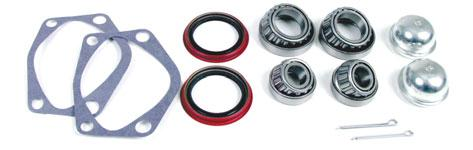 FRONT HUB OVERHAUL KIT Includes 2 each of the following: #1131, Dustcap #1190, Seal #1193, Gasket (61/64) #1201/2, Bearing & cup;