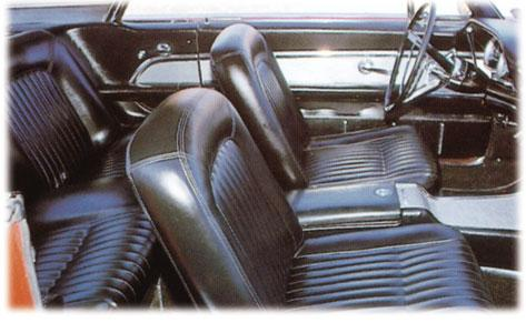 BEIGE (54, 54A) All 1962 seat covers are made with trim color welt as original.