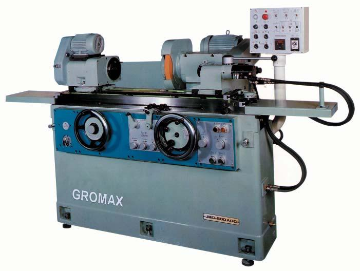 GRINDER & ACCESSORIES GROMAX Universal Cylindrical Grinding Machine Automatic grinding cycle, rapid wheelhead approach and retraction, automatic coarse, fi ne feed, spark-out, wheelhead retract all