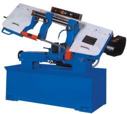 5 fpm 65.8 to 262.5 fpm (variable speed pulley) (inverter ) Vise Clamping (Hydraulic) Rack and Pawl Full Stroke Blade Tension Manual Hydraulic Blade Size (LxWxT) 3820x27x0.9mm 3920x34x1.1mm (150 x1.