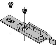 LCN 4040T SERIES INSTALLATION ACCESSORIES PLATE, 4040T-18 Required for pull side (door mount) installations where top rail is less than 3 3/4 (95 mm). Plate requires minimum 1 3/4 (44 mm) top rail.