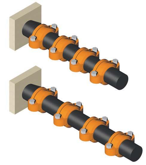 Rotational Movement PRSSUR & DSIGN D Pipe Support ech Data Sheets: G810, G820, G830 GRINNLL Flexible Couplings are suitable for use in seismic as well as mining applications.