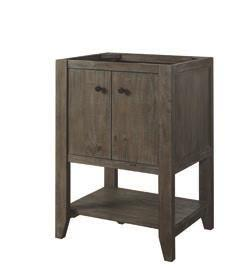 River View (1515 / 1516) Materials: Hinges: Drawer Glides: Drawer Box: Hardware: Finish: Solid Pine Fully Concealed, Soft Closing Soft Closing, Undermount ½ Solids, 4-sided English Dovetail Matte