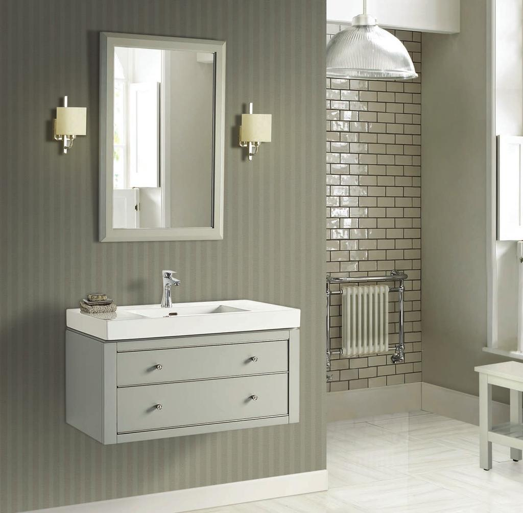 Charlottesville (1510) Finish: Light Gray Shown above 1510-WV3618 36x18 Wall Mount