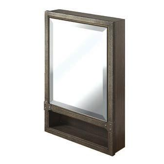 recessed spot light (when door open) illuminates cabinet interior Collection: Charlottesville Finish: Vintage Black 1511-MC20LED-R 20 LED Medicine Cabinet-right 20 x 5-3/4 x 30 Door: 1 (hinge-right)