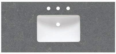 undermount sink (S-200) Back  Quartz side splashes available (sold separately) Engineered ¾ Quartz Tops -