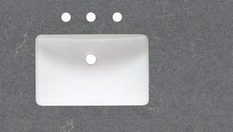 7/8x11 ) to fit rectangular undermount sink (S-200) Sink offset to the left Back  Quartz side splashes