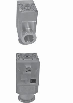 pneumatic single-acting, pressureless closed KF flange Air pressure connection internal thread M5 Electrical connection port RJ45, 8-pin 1.0E-8 mbar to atmosphere < 1.