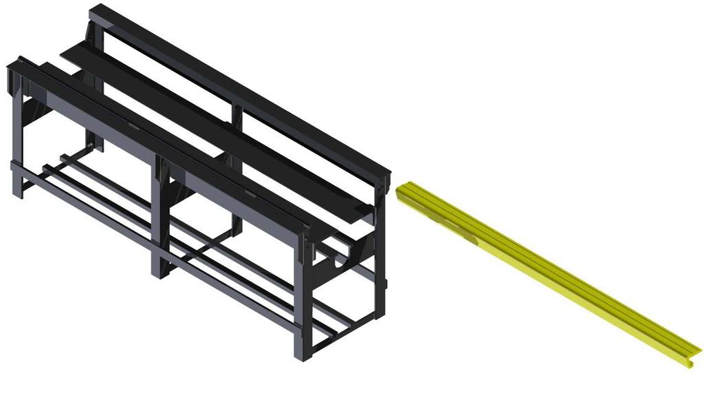 Installation Installing the Plastic Guide Rail Helpful Hint The following procedure requires field fabrication 1) Locate the supplied Guide Rail FIXTURE CLAMP (part #102941) as