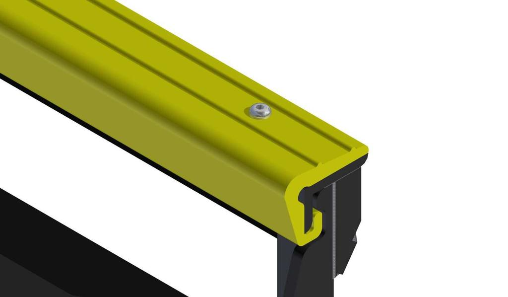 This will produce properly aligned holes in the plastic for the supplied 3/8-16 x 1-1/4 button-head fasteners and 3/8-16 center-lock nuts on the underside of the guide rail.