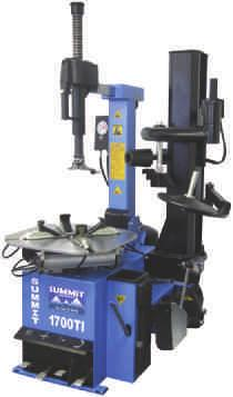 be locked against the rim at the push of a button Pneumatic clamping system with 24 inch rim capacity