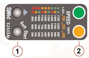 Press Soft Start button until the target time is selected. 4. By starting the screwdriver, the selected soft start setting is saved automatically.