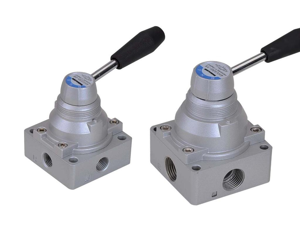 N4HV Rotary Hand Valves Rotary hand valves for use in manual actuator applications Available in 1/4, 3/8
