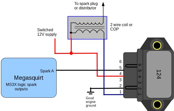 5 = Spark input signal 6 = NC (7 = NC) Bosch 0 2227 100 137 This is very similar to the 124 but the spark input signal is on pin 6.
