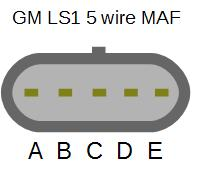 (Black/white) C = Switched 12 volts supply (Pink) GM MAF sensors require a 1k