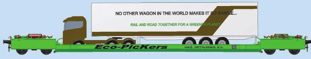 These wagons are incredibly good value and easy to use compared with those already on the market. Wagons that can load and unload complete lorries, or just semitrailers, simply and quickly.