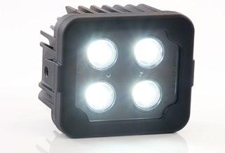 Features Multi-voltage input : 11 to 70Vdc Low power consumption Beam shape: Spot (narrow beam) or Flood (wide beam) 4 Ultra-bright 3rd generation