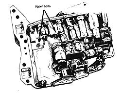 Before you remove the oil pan, it will be necessary to drain the oil first. To do so, remove the back oil pan bolts and work toward the front. Let the back of the pan drop so the fluid will drain.