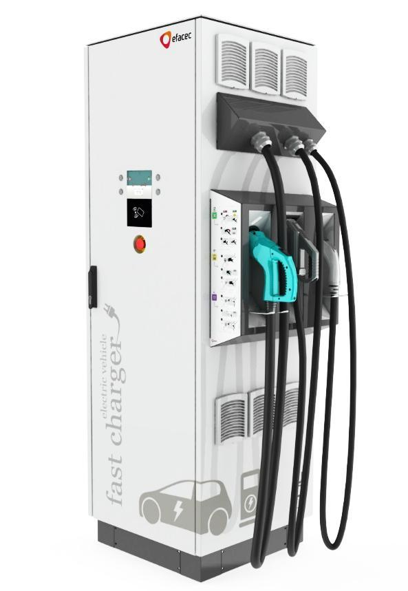 1 GENERAL PRODUCT DESCRIPTION EFAPOWER EV-QC45 charging station is able to charge all electric vehicles compliant with CHAdeMO charging system and Combined Charging System (CCS) standards.