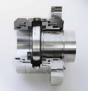 Deformation-optimized seal for high pressures and high sliding velocities (static up to 500 bar (7,250 PSI)) and dynamic up to 150 bar (2,175 PSI) Economical due to standardized inner components High