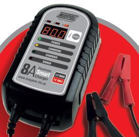 Never use the battery charger if the mains lead, mains plug, output lead or crocodile clips are damaged. Never use the battery charger if it has been dropped or damaged in any way.
