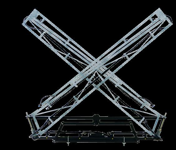 STEEL BOOMS 4m/6m PINNACLE PRO Galvanised Steel Booms Very easy to fold/unfold for spraying and