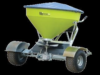 Year warranty - UV stabilised corrosion resistant poly Capable of broadcasting fertilisers, seeds etc.