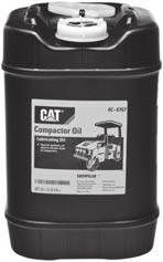 Lubricants 2313282 Cat Synthetic GO SAE 75W-140 1 -- 350-9509 5 -- 242-3466 55 -- 242-3467 -- Bulk 8C-3400 2313317 Compactor Oil Special synthetic oil used in vibrator drum of Compactors Packaged in
