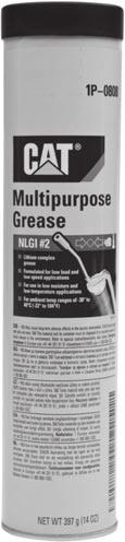 Health and Safety Greases 2313767 Cat Grease is developed, tested and approved by Caterpillar to meet the same high standards as all genuine Cat parts.