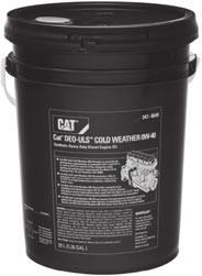 Cat DEO-ULS Cold Weather Best Performance and Protection for Cold Weather Applications Cat DEO-ULS Cold Weather is a synthetic diesel engine oil designed with an extremely stable formula tailored to