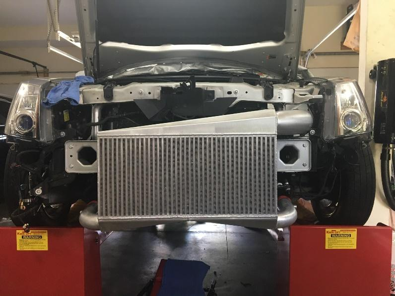 43 = 44 Install intercooler using four M8x1.