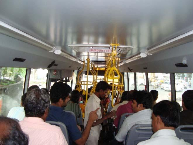 Upgraded fleet of 100 Air Conditioned buses carry