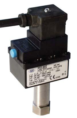 Pressure Controls Series PS3 / Standard types Compact Pressure Switch with fixed switch-point settings Pressure Controls Series PS3 / Standard types Features Maximum allowable pressure up to 43 bar /