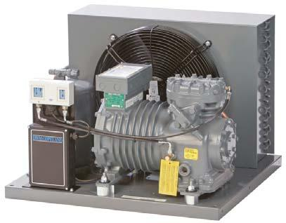 Semi-Hermetic Condensing Units DK/DL Copeland air-cooled indoor condensing units for medium temperature and low temperature applications.