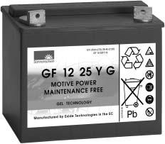 12 GEL batteries SONNENSCHEIN batteries offer a wide range of types for different applications.