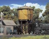 "HO SCALE x STRUCTURES HO Wood Water Tank - Built-ups Walthers Cornerstone. 933-2813 - Yellow Ochre - 3-1/2 x 3-7/8 x 6-5/8"" 8.7 x 9.6 x 16.5cm Reg. Price: $44.98 Sale: $35."