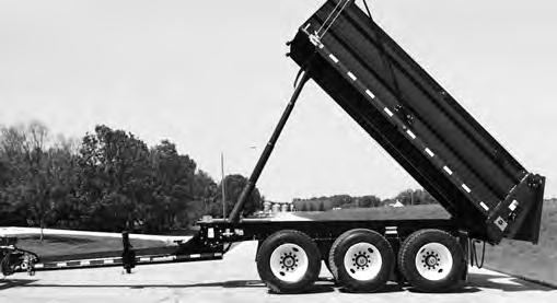 with trailer) Drop Leg Landing Gear Unloading Cylinder Rear Gate Tri-Axle Pony