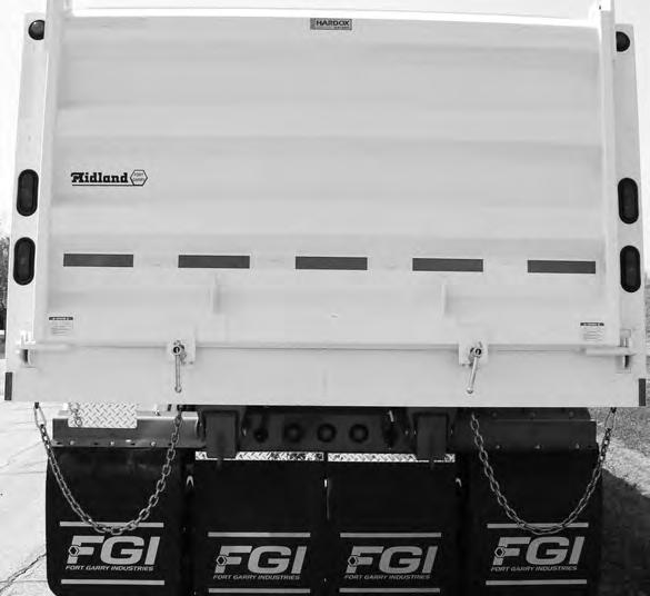 e. End gate frame. f. Gate latching system. g. Suspension system anchorage. h. Axles. i. Cover. Fig. 37 QUAD AXLE WAGON END DUMP TRAILER 3. Inspect electrical system components for: a. Binding. b.